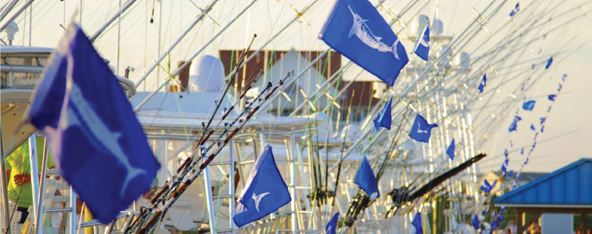Fishing Boats Flying Marlin Flags