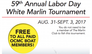 59th Annual Labor Day White Marlin Tournament